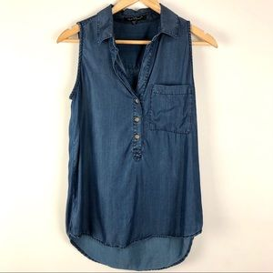 Velvet Heart Denim Chambray Tank Top